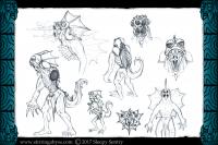 The original concept sheet for the Spineskulker