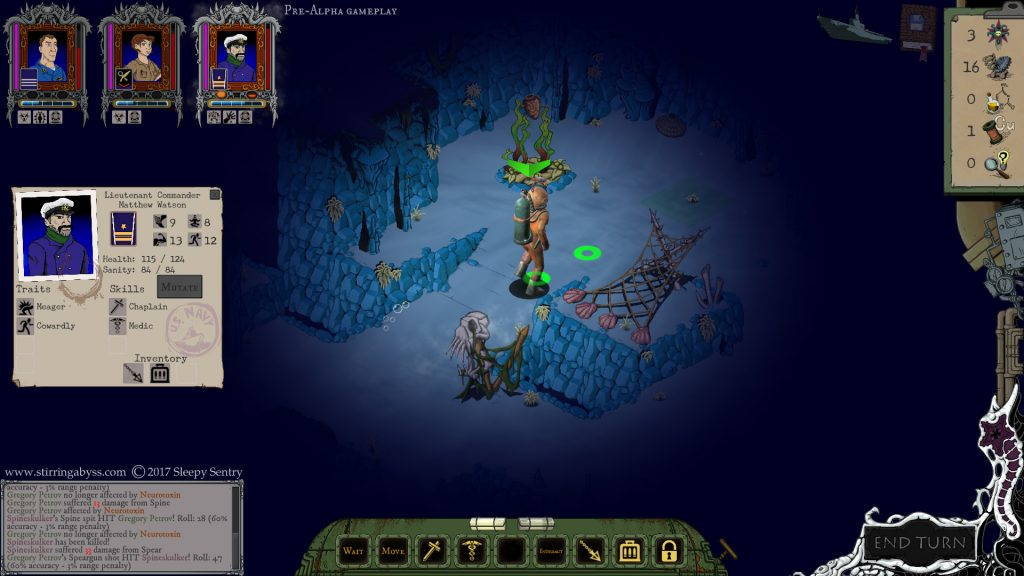 Screenshots: Who knows what horrors await Lieutenant Commander Watson in the gloom of the underwater cavern